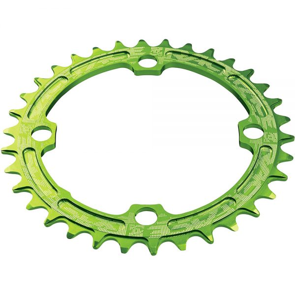 Race Face Narrow Wide MTB Single Chainring - 4-Bolt - Green, Green