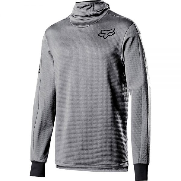 Fox Racing Defend Thermo Hooded Jersey 2020 - M - Steel Grey, Steel Grey