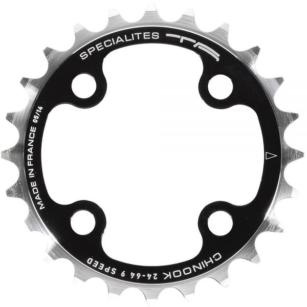 TA 64 PCD Chinnok 4-Arm MTB Inner Chainring - 4-Bolt - Black, Black