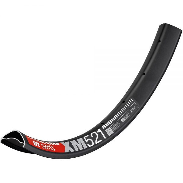 DT Swiss XM 521 35mm MTB Rim - 32H - Black, Black
