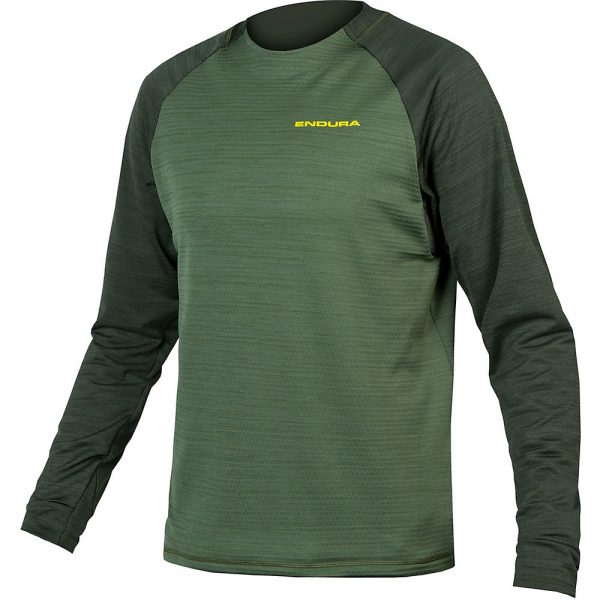 Endura Singletrack Fleece MTB Jersey 2020 - L - Forest Green, Forest Green