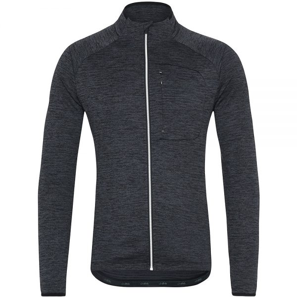dhb MTB Long Sleeve Trail Thermal Zip Jersey - L - Black, Black