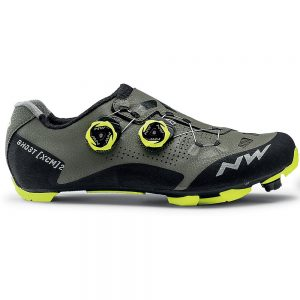Northwave Ghost XCM 2 MTB Shoes 2020 - EU 47 - Forest - Yellow, Forest - Yellow