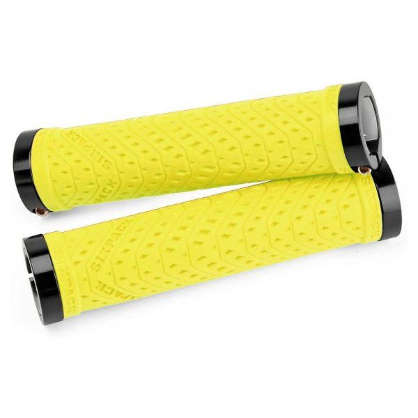 Sixpack Racing K-Trix Lock-On Grips - Neon Yellow-Black, Neon Yellow-Black