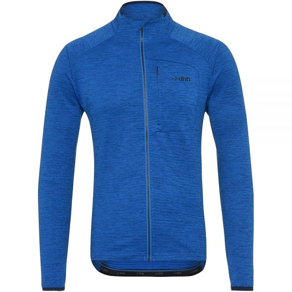 dhb MTB Long Sleeve Trail Thermal Zip Jersey - S - Blue, Blue