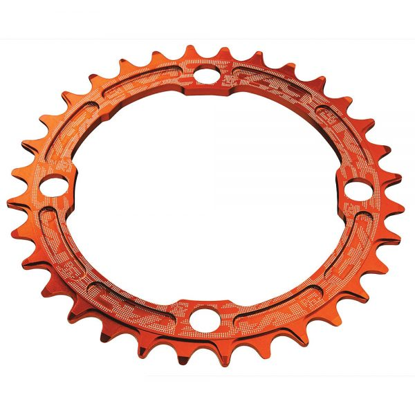 Race Face Narrow Wide MTB Single Chainring - 4-Bolt - Orange, Orange
