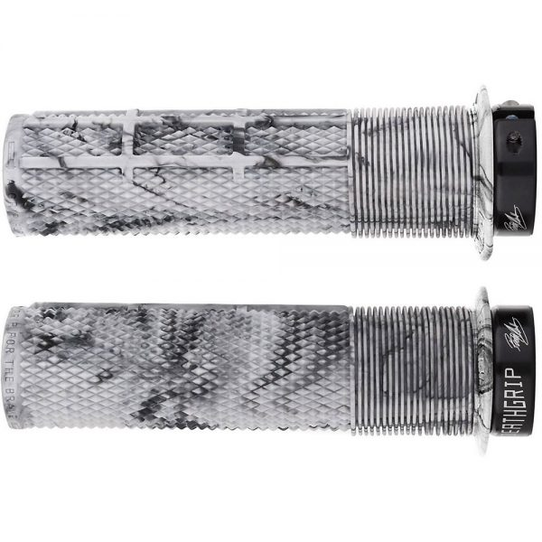 DMR Brendog Death Grip MTB Grips - 135mm - Snow Camo, Snow Camo