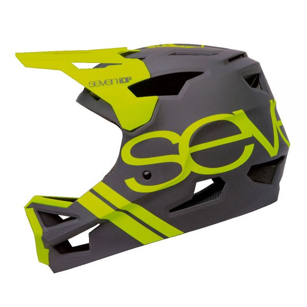 7 iDP Project 23 ABS Full Face Helmet 2020 - L - Matte Storm Grey-Gloss Bright Yellow, Matte Storm Grey-Gloss Bright Yellow