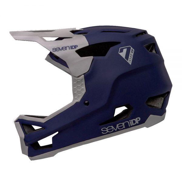 7 iDP Project 23 GF Full Face Helmet 2020 - M - Matte Deep Space Blue-Gloss Grey, Matte Deep Space Blue-Gloss Grey
