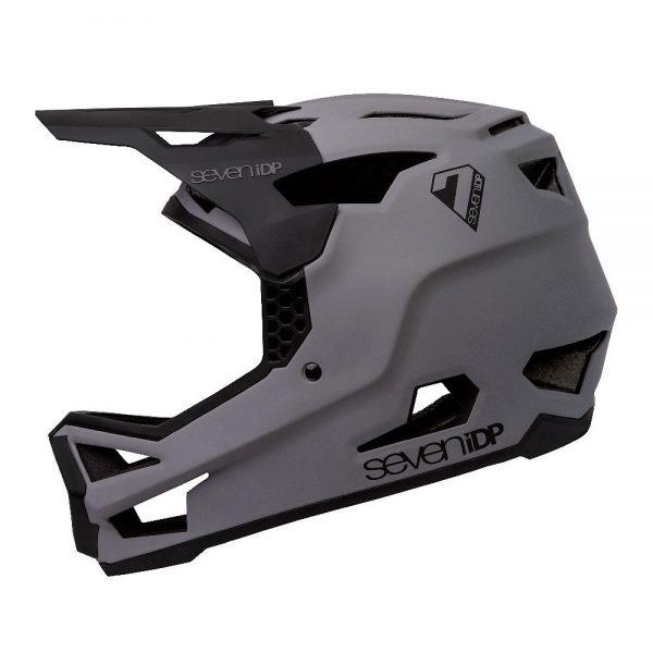 7 iDP Project 23 GF Full Face Helmet 2020 - XXL - Matte Grey-Gloss Black, Matte Grey-Gloss Black