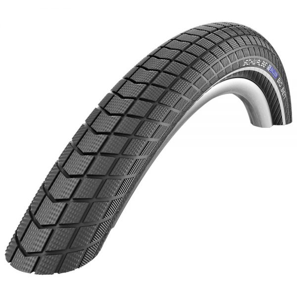 Schwalbe Big Ben MTB Tyre (RaceGuard) - Wire Bead - Black - Reflex, Black - Reflex