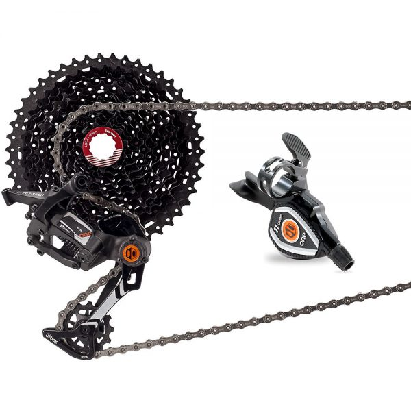 Box One 11 Speed Drivetrain MTB Groupset - Wide - Black, Black