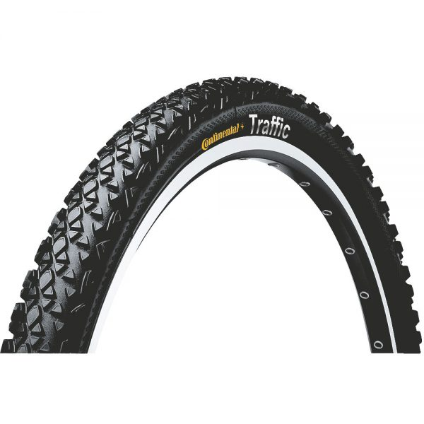 Continental Traffic II MTB Tyre - Wire Bead - Black, Black