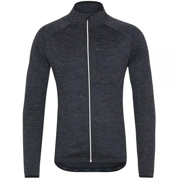 dhb MTB Long Sleeve Trail Thermal Zip Jersey - XXL - Black, Black