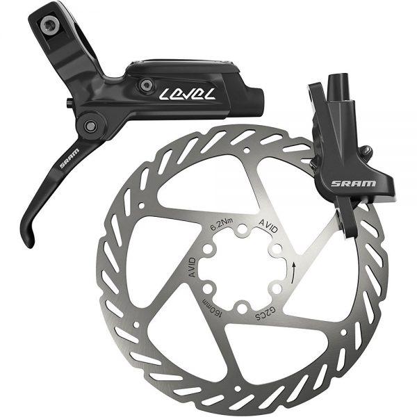 SRAM Level MTB Disc Brake + Rotor - Left Hand - Front - Black, Black