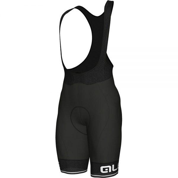 Alé Corsa Bib Shorts - XS - Black-White, Black-White