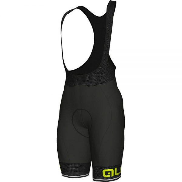 Alé Corsa Bib Shorts - XS - Black-Yellow, Black-Yellow