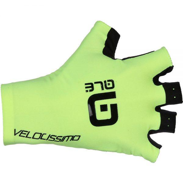 Alé Crono Velocissimo Gloves - L - Fluro Yellow-Black, Fluro Yellow-Black