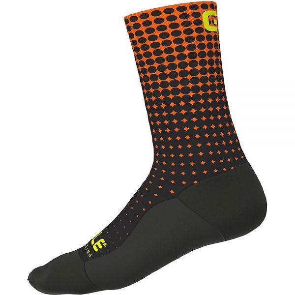 Alé Dots Socks - S - Black Fluo Orange, Black Fluo Orange