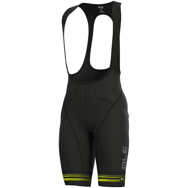 Alé Graphics PRR Cb Slide Bib Shorts - XXXL - Black-Fluro Yellow, Black-Fluro Yellow