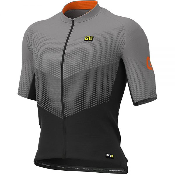 Alé Graphics PRR Delta Jersey - L - Black-Grey-Fluo Orange, Black-Grey-Fluo Orange