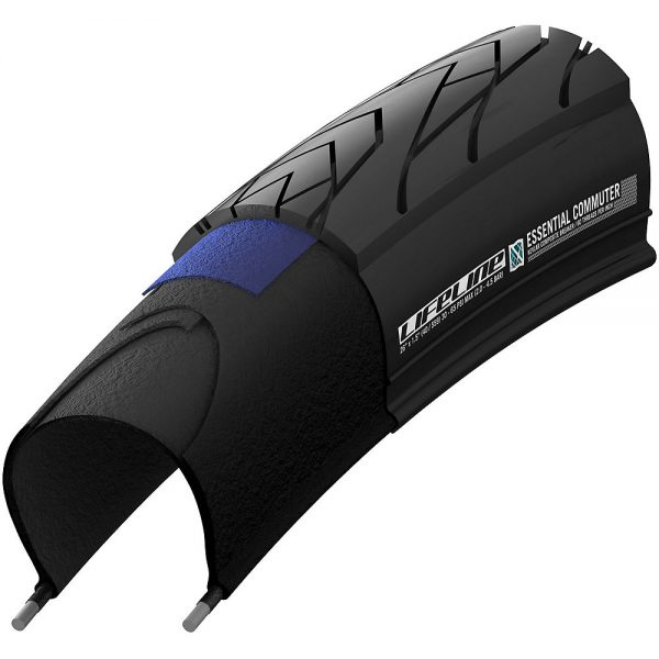 LifeLine Essential Commuter MTB Tyre - Folding Bead - Black, Black