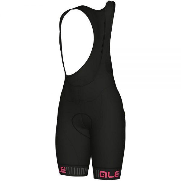 Alé Women's Traguardo Bib Shorts - M - Black-Fluro Pink, Black-Fluro Pink