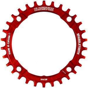 Blackspire Snaggletooth Narrow Wide Chainring - 4-Bolt - Red, Red