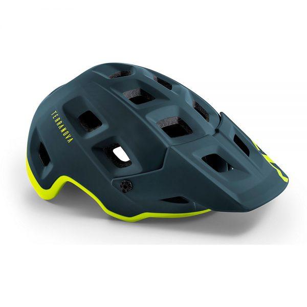 MET Terranova MTB Helmet 2020 - L - Blue-Lime, Blue-Lime