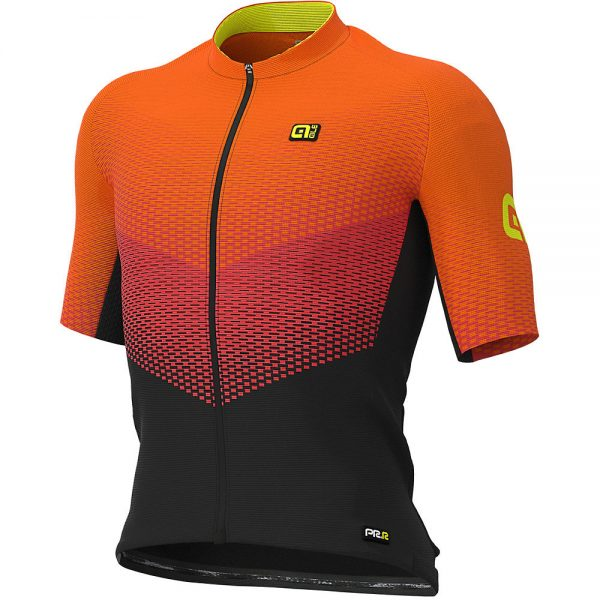 Alé Graphics PRR Delta Jersey - S - Black-Red-Fluro Orange, Black-Red-Fluro Orange