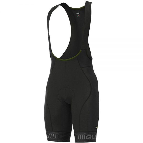 Alé Graphics PRR Green Road Bib Shorts - M - Black-Charcoal Grey, Black-Charcoal Grey