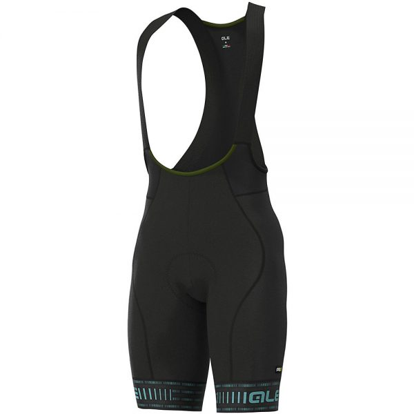 Alé Graphics PRR Green Road Bib Shorts - M - Black-Turquoise, Black-Turquoise