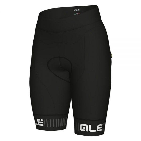 Alé Women's Traguardo Shorts - S - Black-White, Black-White