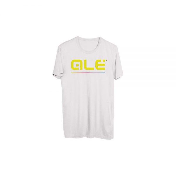 Alé Yellow Classic Logo T- Shirt - XL - White, White
