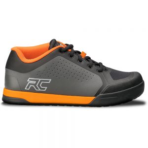 Ride Concepts Powerline Flat Pedal MTB Shoes 2020 - UK 8 - Charcoal-Orange, Charcoal-Orange