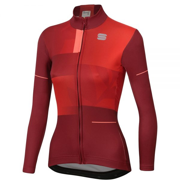 Sportful Women's Oasis Thermal Jersey - M - Red Rumba, Red Rumba