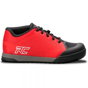 Ride Concepts Powerline Flat Pedal MTB Shoes 2020 - UK 10 - Red-Black, Red-Black