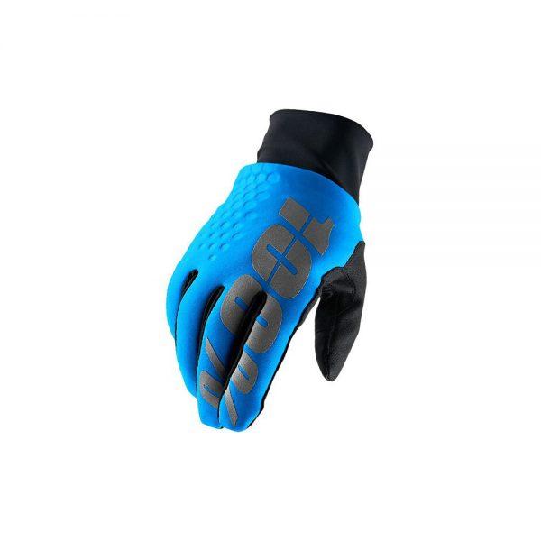 100% Hydromatic Waterproof Brisker Glove - S - Cyan, Cyan