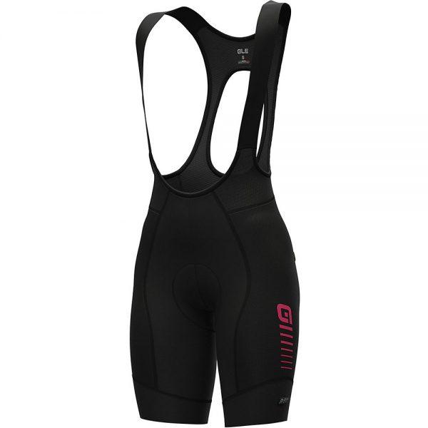 Alé Women's R-EV1 Future Race Bib Shorts - L - Black-Fluro Pink, Black-Fluro Pink