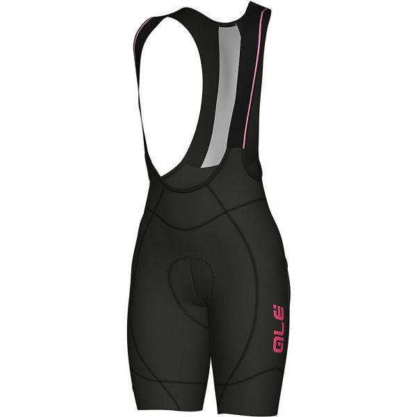 Alé Women's REV1 Agonista 2 Bib Shorts - XXL - Black-Fluro Pink, Black-Fluro Pink