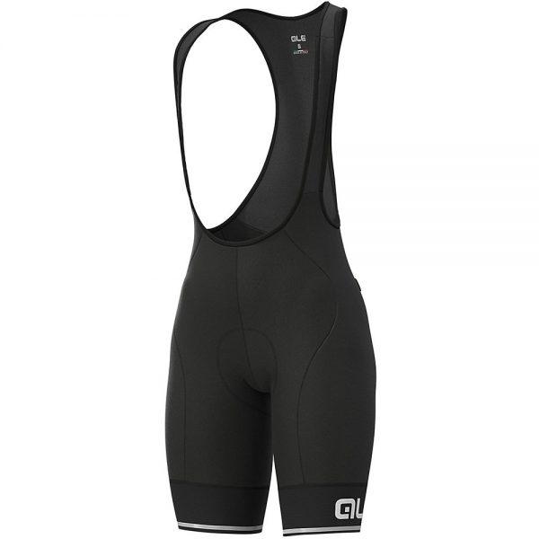Alé Women's Solid Blend Bib Shorts - XXXL - Black-White, Black-White
