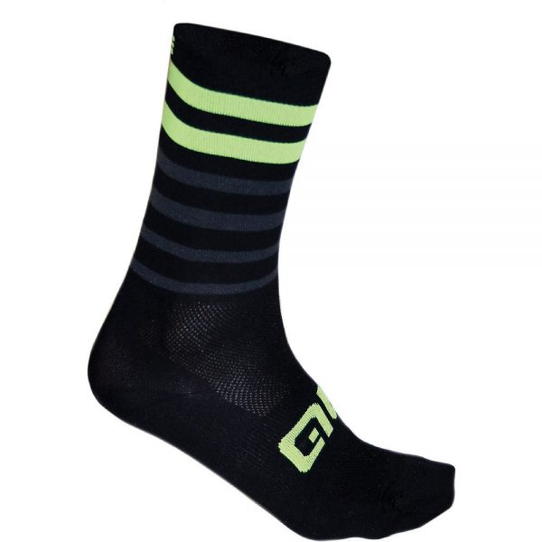 Alé Speed Fondo Socks - M - Black-Yellow, Black-Yellow