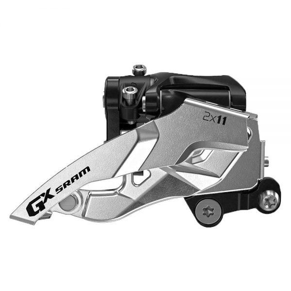 SRAM GX 2x11 DM MTB Front Derailleur - Black - Silver - Top Pull, Black - Silver