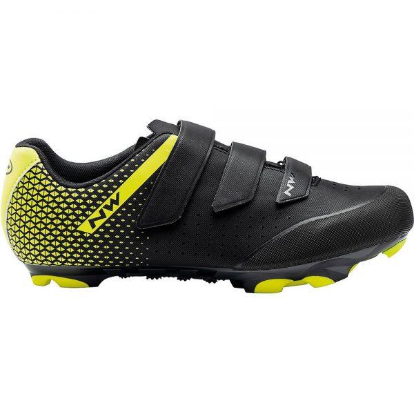Northwave Origin 2 MTB Shoes - EU 39 - Black- Fluo Yellow, Black- Fluo Yellow