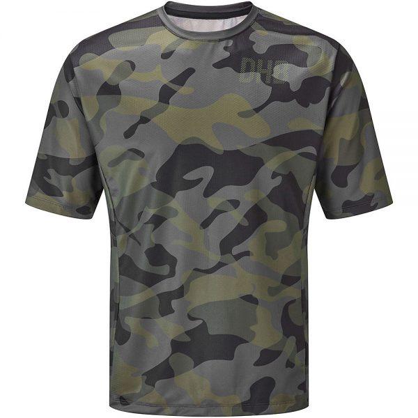 dhb MTB Short Sleeve Trail Jersey - Camo - L - Khaki-Black, Khaki-Black