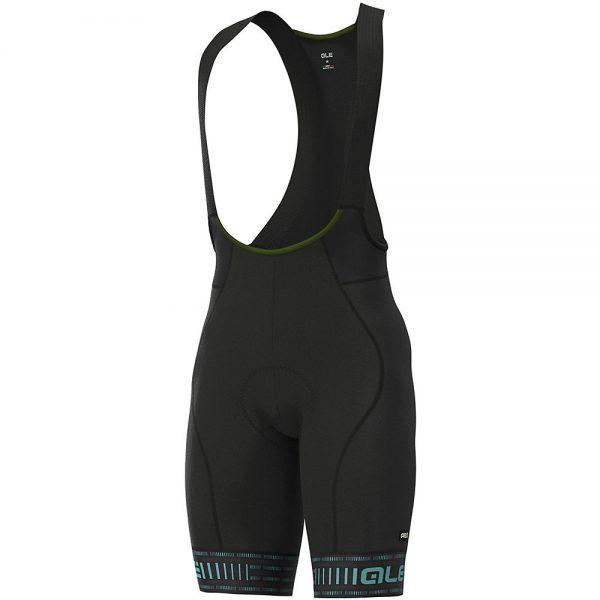Alé Graphics PRR Green Road Bib Shorts - XL - Black-Turquoise, Black-Turquoise