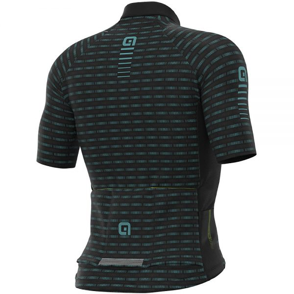 Alé Graphics PRR Green Road Jersey - S - Black-Turquoise, Black-Turquoise