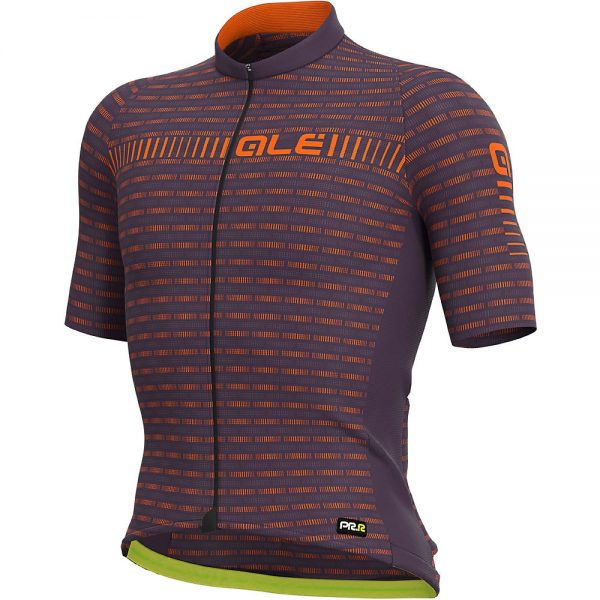 Alé Graphics PRR Green Road Jersey - S - Plum-Fluro Orange, Plum-Fluro Orange