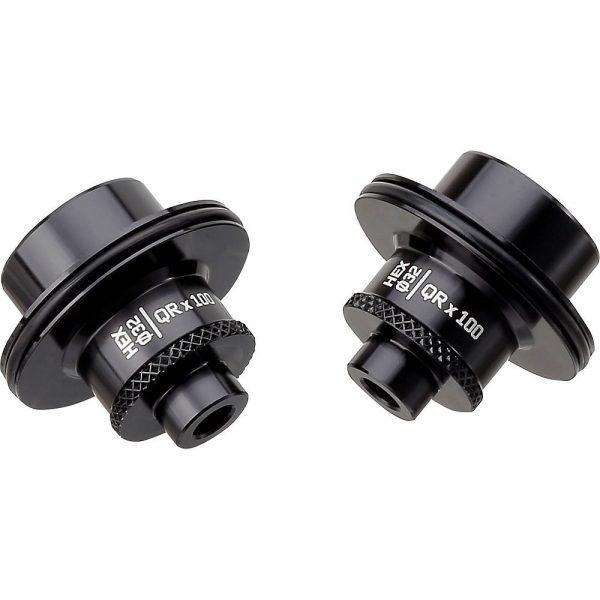 Spank Hex Front Hub Adapter - QR x 100mm - Black, Black