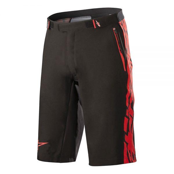 Alpinestars Mesa Shorts - 30 - BLACK-RED, BLACK-RED